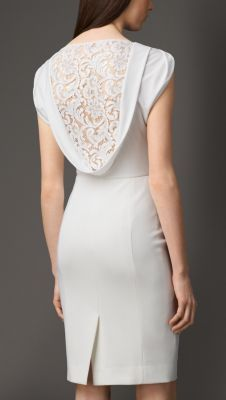 £595 Lace Back Dress #burberry #wedding outfit
