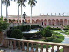 The gardens outside The Ringling Museum of Art / Sarasota, Florida USA.