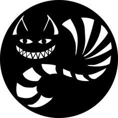 alice in wonderland-Cheshire Laser Cut Vinyl Record artist representation Cat Pumpkin Stencil, Cat Pumpkin Carving, Halloween Pumpkin Carving Stencils, Halloween Pumpkins, Kirigami, Cheshire Cat Pumpkin, Silhouette Chat, Alice In Wonderland Silhouette, Cat Laser