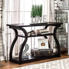 Shop for Furniture of America 'Sara' Black Finish Console Table and more for everyday discount prices at Overstock.com - Your Online Furniture Store!