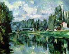 Paul Cezanne - The Banks of the Marne. 1888. Oil on canvas. The Pushkin Museum of Fine Art, Moscow, Russia.
