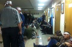 Шахтеры ворвались в здании Минсоцполитики и начали голодовку