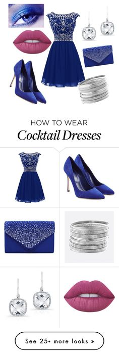 """""""Royal blue"""" by daisyduke665 on Polyvore featuring Anne Sisteron, Sergio Rossi, Avenue and Lime Crime"""