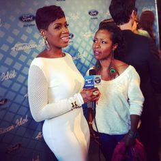 Season 3 and The Color Purple pals, Fantasia and La Toya London reunite after the Idol results show last week.  WATCH: http://www.americanidol.com/videos/season_12/season_12_idol_alumni/catching-up-with-fantasia-barrino-and-latoya-london