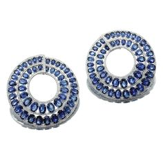 Pair of sapphire and diamond earrings, Michele della Valle | lot | Sotheby's