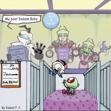 Zim and Dib as babies...I love the details in this