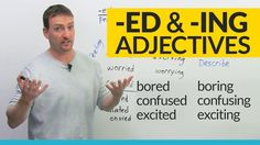 Does grammar make you feel bored or boring? In this video well study the difference between -ed and -ing adjectives and how to use them correctly.  I hope I can get you excited about grammar, because it can be interesting when you understand it! This is a great lesson for beginners to learn. But advanced English learners should also make sure they dont make this common mistake!