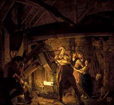 Joseph Wright of Derby (British An Iron Forge Oil on canvas 132 x cm. The Tate Gallery London Chiaroscuro, Canvas Art Prints, Oil On Canvas, John Everett Millais, Infinite Art, Thomas Gainsborough, William Hogarth, Dante Gabriel Rossetti, Google Art Project