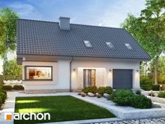 Projekt domu Dom w zdrojówkach - ARCHON+ House Plans, Pergola, Home And Garden, New Homes, Outdoor Structures, How To Plan, Mansions, House Styles, Outdoor Decor