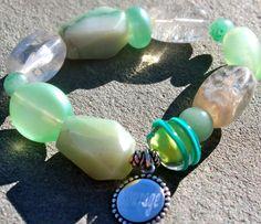 Adventurine gemstone elastic bracelet Check it out now: http://www.ekdesignsjewelry.com/Merchant2/merchant.mvc?Screen=PROD&Store_Code=EDJ&Product_Code=gem0015&Category_Code=beads $50.00 #Gemstonebracelets #Graduationbracelets #Elasticgemstonebracelets #Healingbracelets #Gemstonejewelry