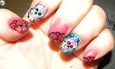 Sugar Skull Nails | Thread: Need to find a nail tech to Bling my nails for Vegas!