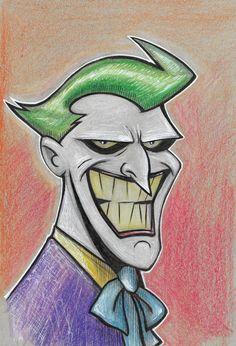 Joker cartoon illustration by MarshStore on Etsy