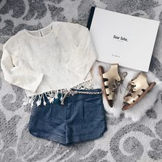 Cute mini outfit and sandals