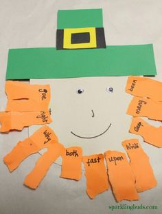 Here is another idea for St.Patrick's day. Wematched sight words in a paper Leprechaun craft.Though we have used the craft idea forsight words matching, it can be usedfor any learning activities like alphabet matching, mathproblems etc. Or, the idea can be used just to make Leprechaun's face without sneaking in any learning activity. Leprechaun craft! …
