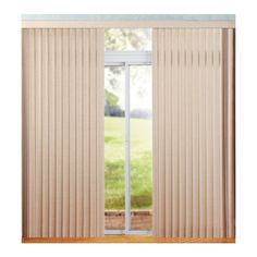 Levolor Vinyl Vertical Blinds Plaster ($55) ❤ liked on Polyvore featuring home, home decor, vinyl home decor y vinyl vertical blinds