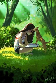 Illustrator Yaoyao Ma Van As. Yaoyao Ma Van As, or shortly YaoYao art director, painter, illustrator, and occasional animator. For more view website Cartoon Kunst, Cartoon Art, Art Anime, Anime Art Girl, Anime Girls, Art Drawings Sketches, Cute Drawings, Image Princesse Disney, Alone Art