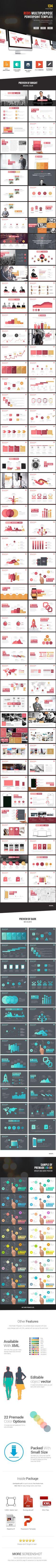 Red's - Creative Multipurpose Powerpoint Template #design #slides Download: http://graphicriver.net/item/reds-creative-multipurpose-powerpoint-template/13825795?ref=ksioks