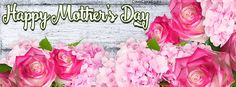 Happy Mother Day Fresh Pink Flowers Facebook Cover coverlayout.com