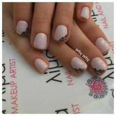 Classy baby pink lace nails
