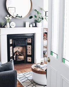 I want to present decoration with Ikea mirrors where you can find a wide variety of ideas. Mirrors are part of the interior of homes, so it's good to . Ikea Stockholm, Stockholm Mirror Ikea, Living Room Mirrors, Home Living Room, Living Room Decor, Living Spaces, Mirror Over Fireplace, Fireplace Surrounds, Fireplace Ideas