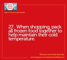 Keep this important tip in mind when shopping for your favorite frozen products! #MarchFrozenFoodMonth