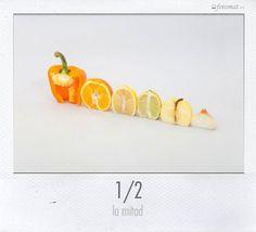 1/2 naranja... o 1/2 lo que sea...