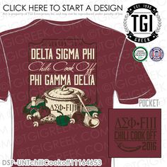 Delta Sigma Phi | ΔΣΦ | Phi Gamma Delta | Brotherhood | Chili Cook Off | Custom Fraternity Apparel | Custom Sorority Apparel | TGI Greek | Greek Apparel | Custom Apparel | Fraternity Tee Shirts | Sorority Tee Shirts | Fraternity T-shirts | Sorority T-shirts
