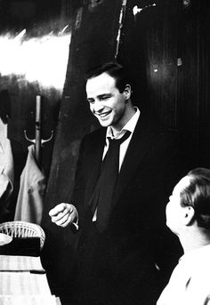 Marlon Brando in rehearsals for Guys and Dolls, 1955  People That Matter