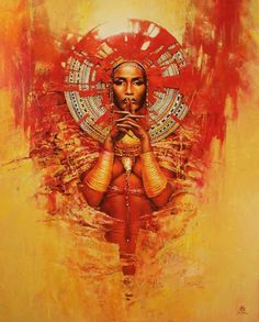 Artiste Karol BAK - (page - Menelwenaart African American Art, African Art, Black Women Art, Black Art, Wow Art, Mix Media, Female Art, Amazing Art, Amazing Paintings