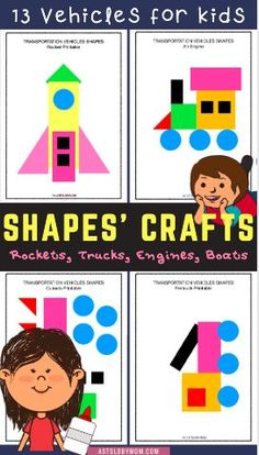 Shapes Puzzle Crafts, Animals Shapes Craft for kids and little toddlers. Kids of all ages from Preschool, kindergarten to primary grade, everyone will enjoy making these simple and easy animal crafts. Preschool Art Activities, Toddler Learning Activities, Indoor Activities For Kids, Paper Crafts For Kids, Crafts For Kids To Make, Projects For Kids, Fun Crafts, Art Projects, Puzzle Crafts