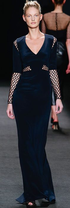 Monique Lhuillier FW RTW 2014 2015    details on the shoulder and sleeves lmj