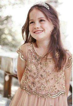 """The """"Penelope"""" Golden Sequin Design Floral Dress"""