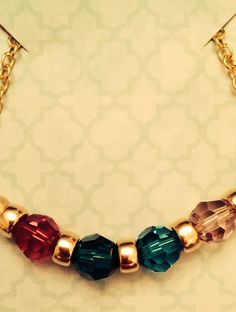 Birthstone necklace with the birthstones of my four precious children!