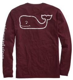 Vineyard Vines Long-Sleeve Vintage Whale Heather Pocket T-Shirt