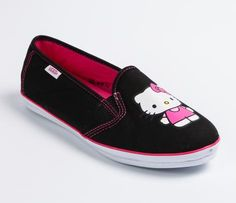 VANS x Hello Kitty Authentic Slip-on: Black