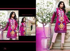 GL-AZ03B 3 Piece lawn suit. Top - Embroidered & printed lawn Pants - Plain lawn fabric Dupatta - Printed Chiffon