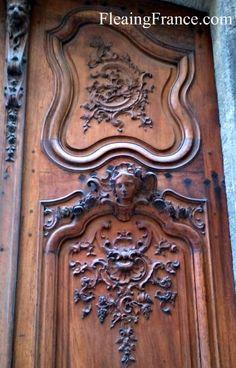 Louis XV doors... Fleaing France? Fleeing France? Or is it like some kind of flea market? or actual Fleas? I guess I could follow the link, huh?