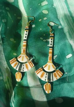 Earring is an artistic, creative work, IKA earring by tothajhsa on Etsy