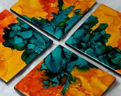 ALCOHOL INK COASTERS - Google Search