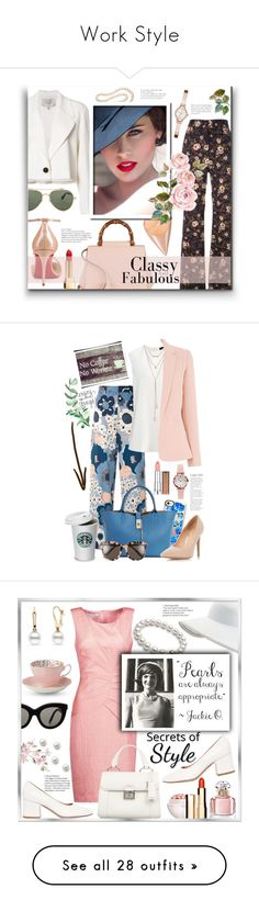 """""""Work Style"""" by ela79 ❤ liked on Polyvore featuring Carolina Herrera, DaVonna, Rochas, DKNY, Gucci, Christian Louboutin, Givenchy, Yves Saint Laurent, Casetify and Mary Engelbreit"""