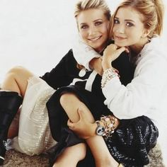 Mary Kate and Ashley, I remember watching Full House reruns when I was little and still now, they grow up so fast (like how they say it in the movies) they're sisters and best friends forever.