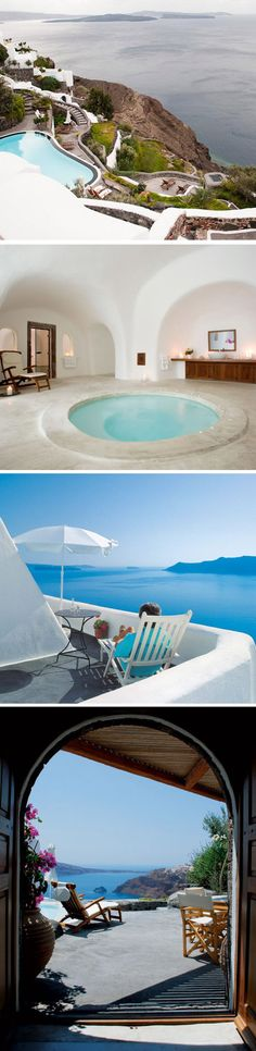 Perivolas Hotel / Santorini, Greece--my all time fav place to visit. im going one day Santorini Greece, Dream Vacation Spots, Vacation Destinations, Dream Vacations, Beautiful Places To Visit, Oh The Places You'll Go, Places To Travel, Viajes, Nature