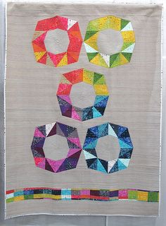 Fruit Flavors by Mary Menzer. Quiltcon 2016.  (fractal, facets block)