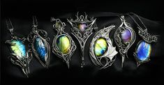 Lunarieen | Fantasy Handmade Jewellery | Silver and Gemstone Jewellery Gemstone Jewelry, Silver Jewelry, Jewelry Necklaces, Jewellery, Mode Costume, Bracelet Making, Black Diamond, Body Jewelry, Fashion Necklace