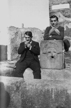 Jean Cocteau: Pablo Picasso et Léonide Massine à Pompéi (1917).