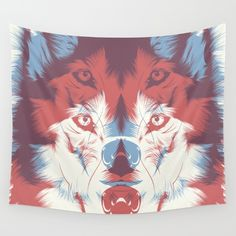 WOLF 3D Wall Tapestry by CranioDsgn. Worldwide shipping available at Society6.com. Just one of millions of high quality products available.