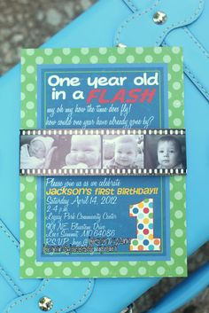 Find This Pin And More On First Birthday Ideas One Year In A Flash Invitations