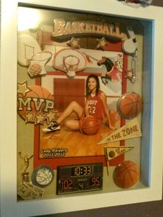 3D shadow box to display sports pics. Fun to make with the kids.