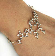 Oxytocin Bracelet  Sterling Silver by EmilyAliceBall on Etsy, £145.00