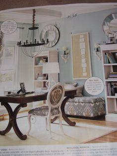 Love this office. Ballard Designs.